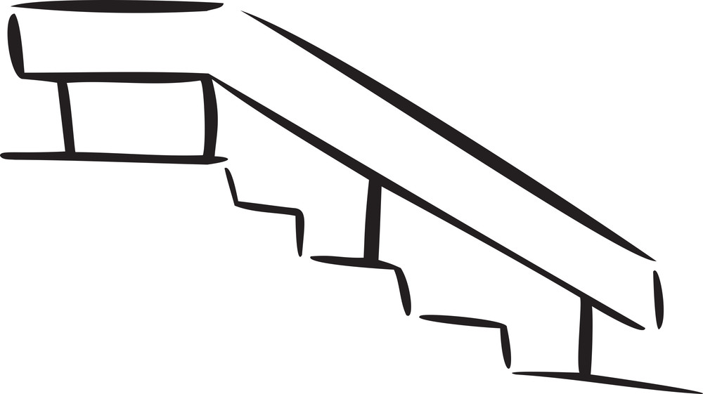 Illustration Of The Stairs Of A House.