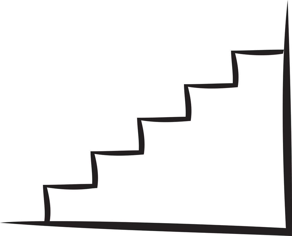 Illustration Of The Stairs Of House.