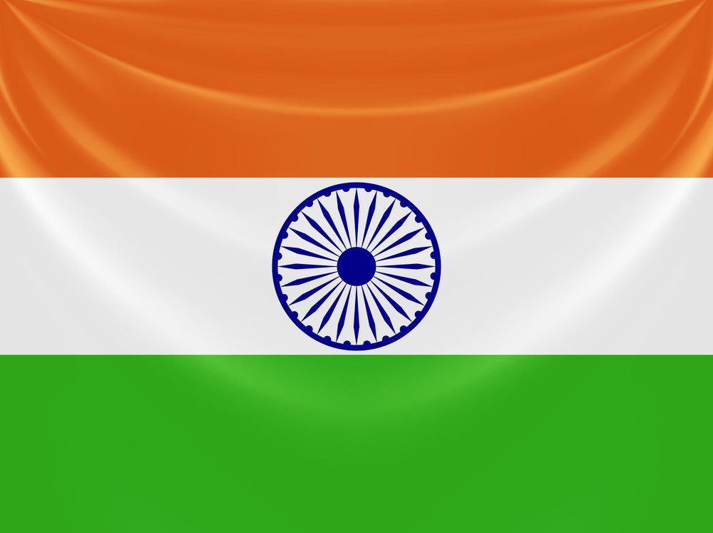 Illustration Of Tricolor Indian Flag Made Of Curtain Draper Design10 Vector Illustration