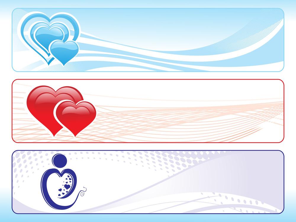 Illustration Of Valentine Banner