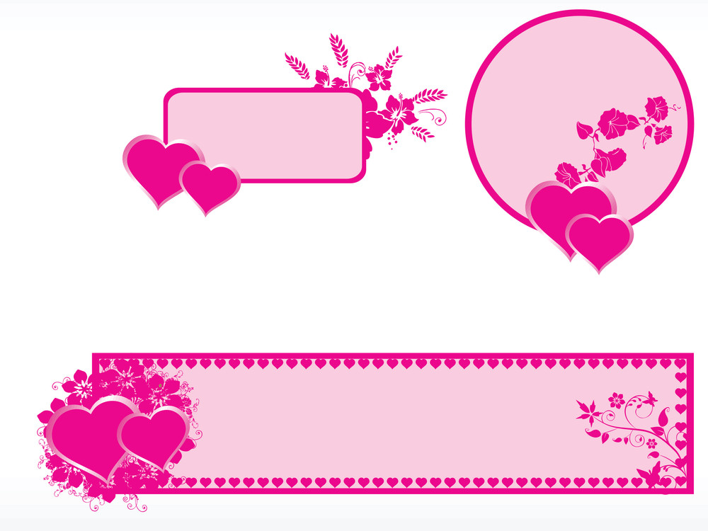 Illustration Of Valentine Day Banner Royalty Free Stock Image