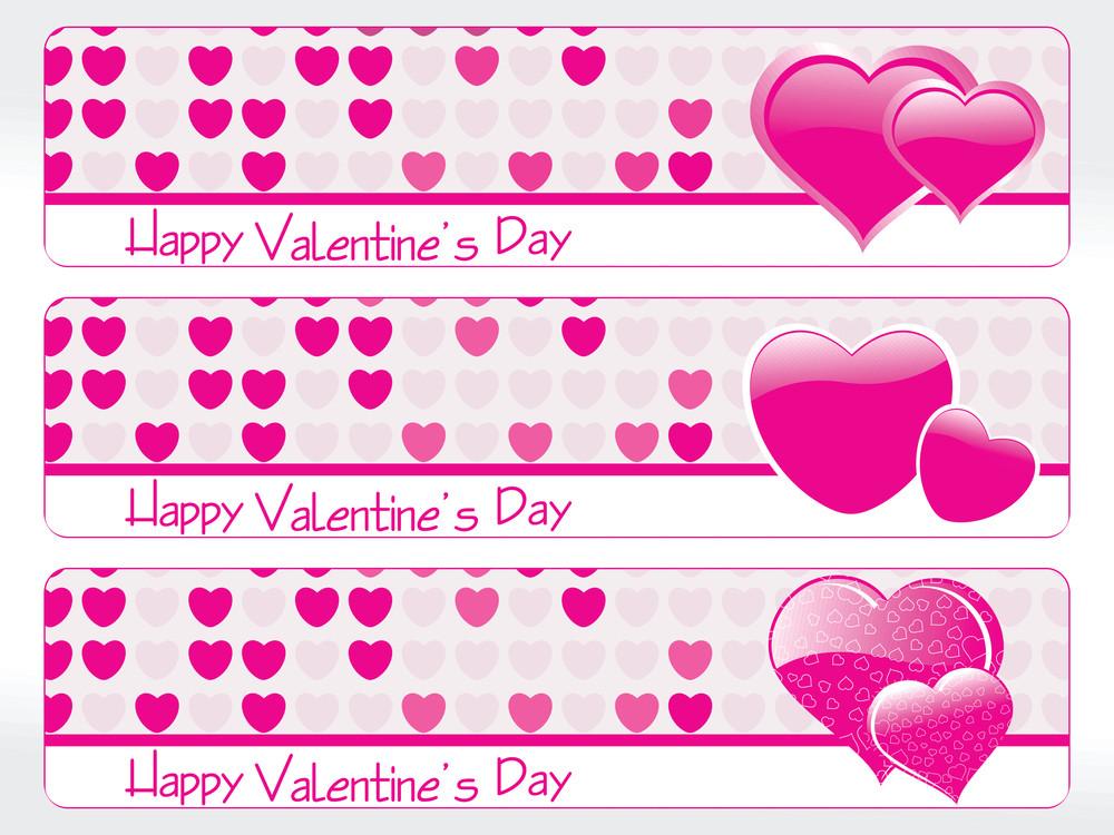 Illustration Of Valentine Day Banner