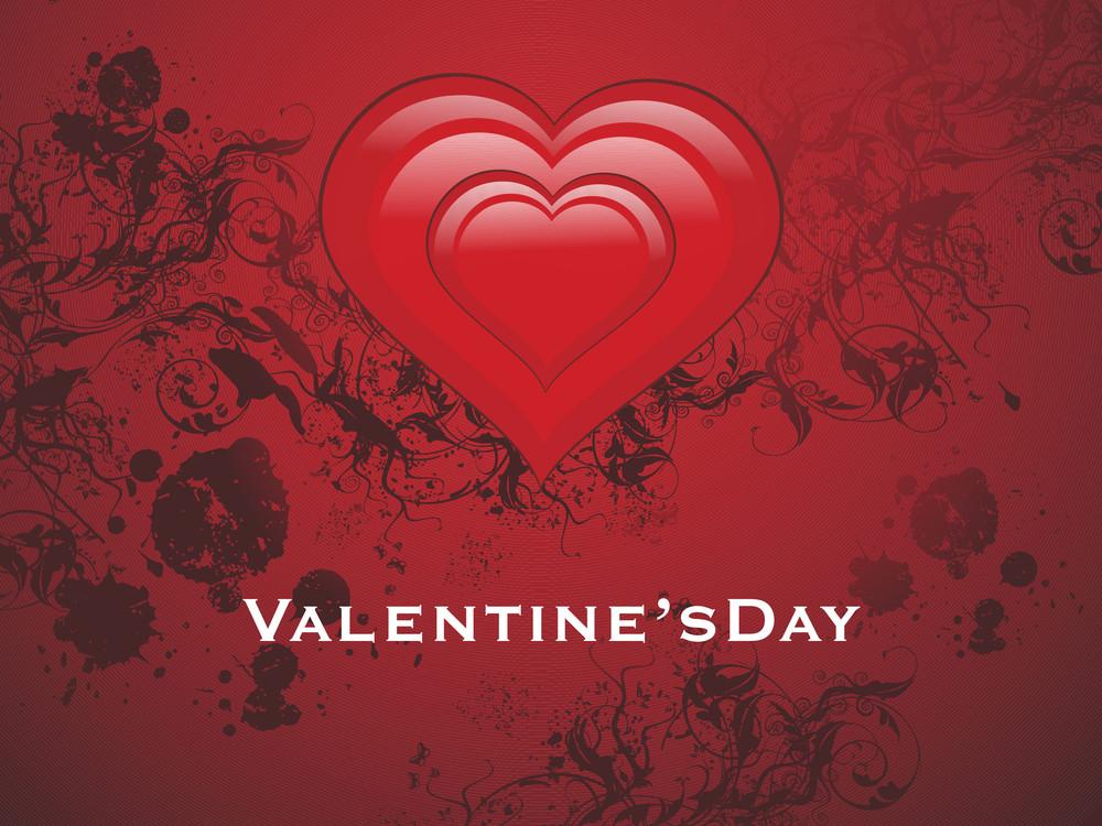 Illustration Of Valentine Day Wallpaper