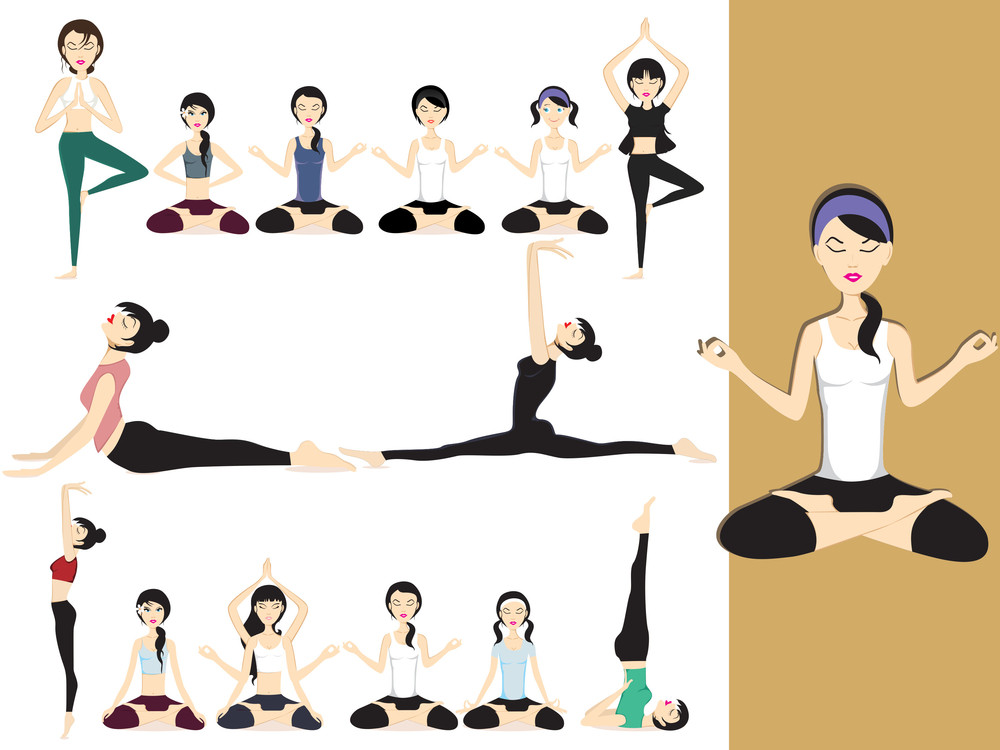 Illustration Of Yoga Girl