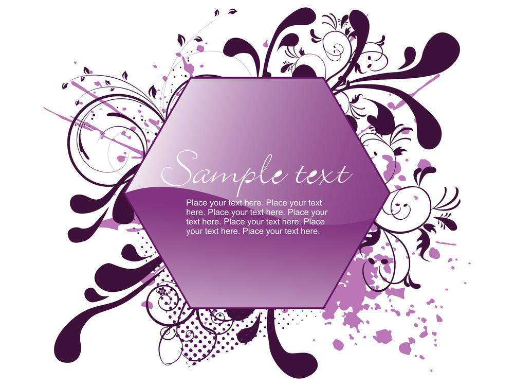 Illustration Swirl Design Card
