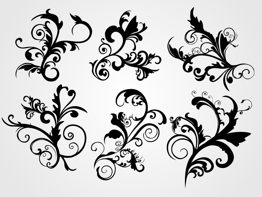 Illustration Swirl Design Tattoos