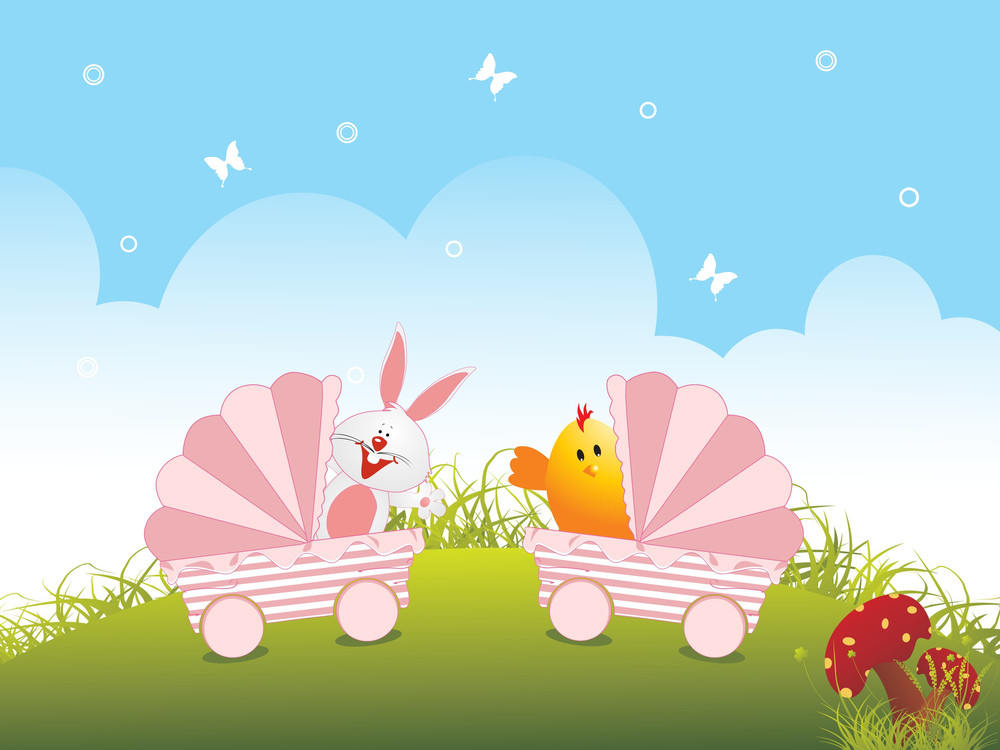 Illustration Wallpaper For Easter Day