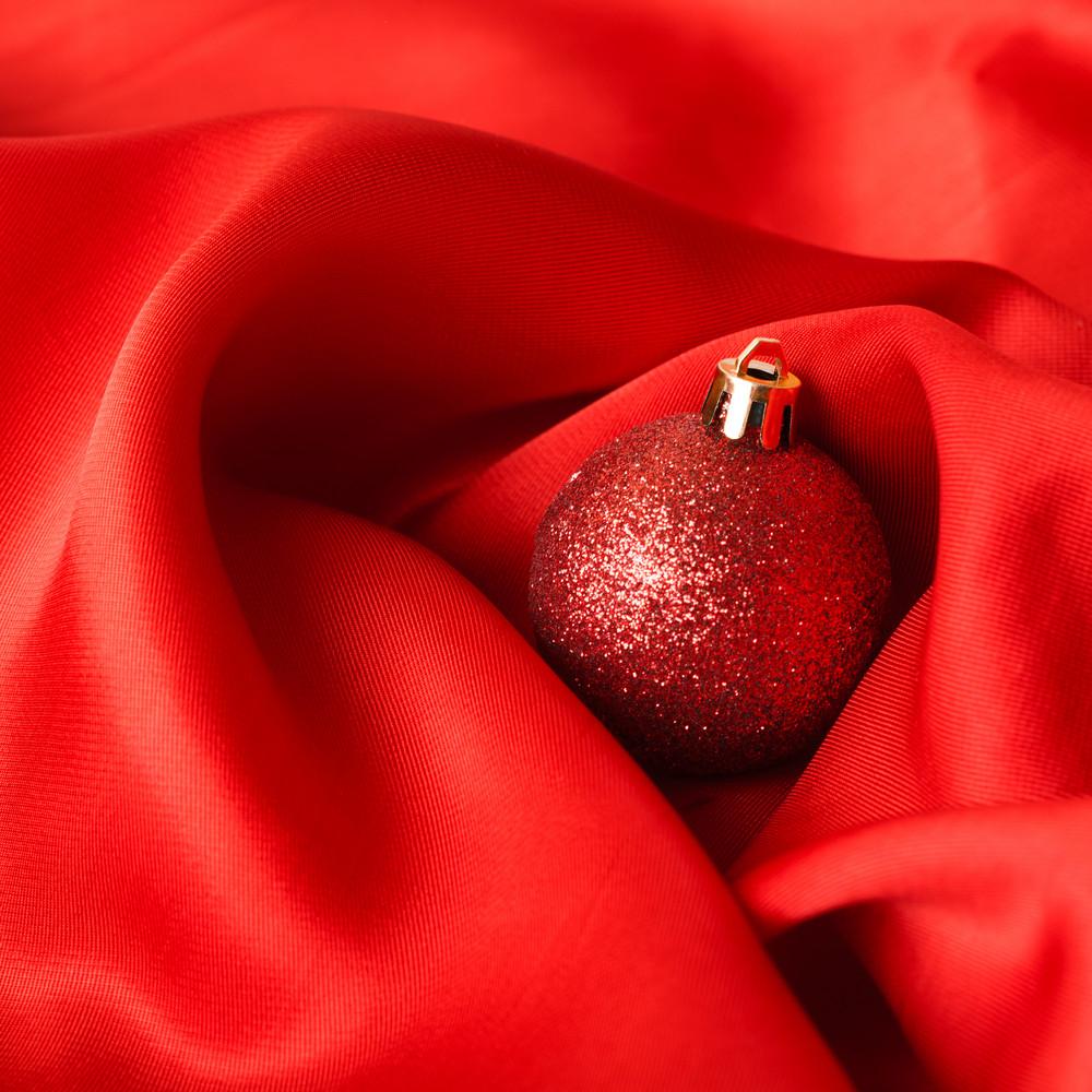 Small red decoration balls