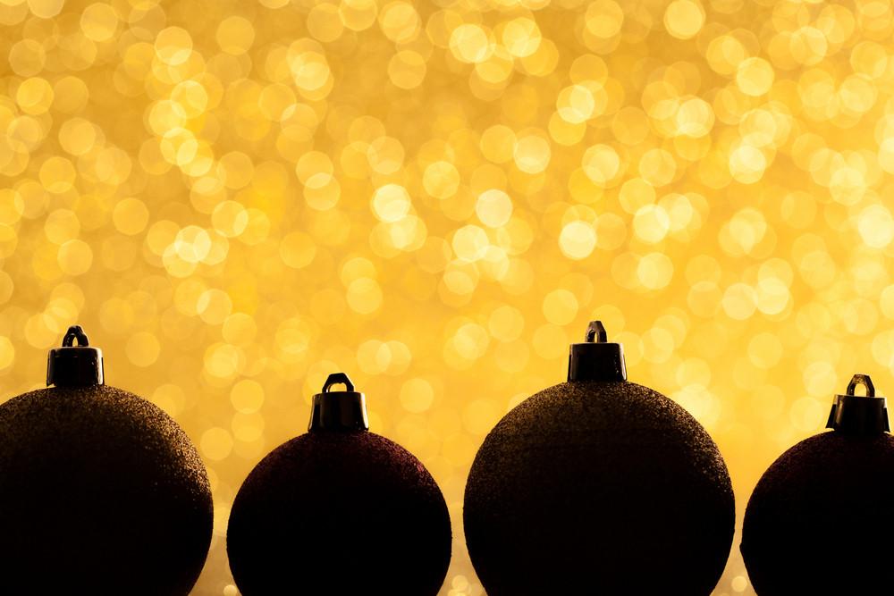 Closeup of Christmas balls