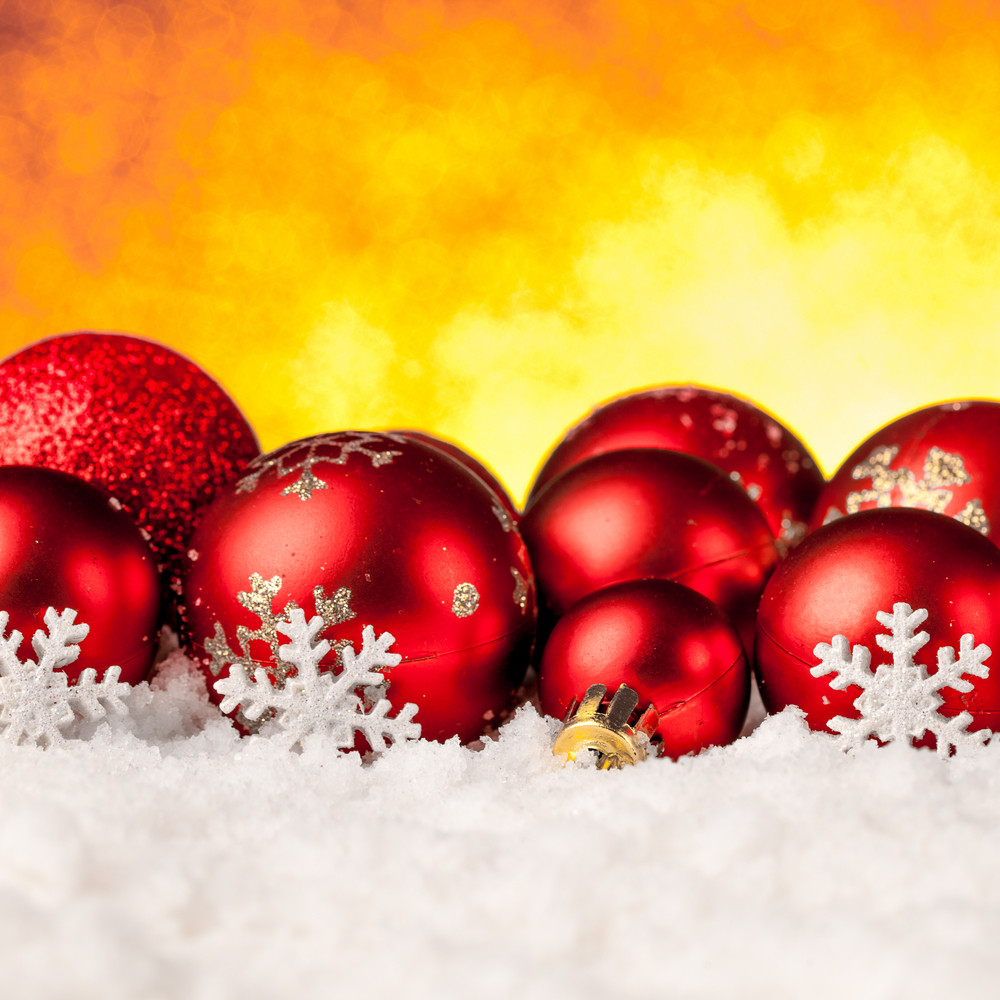 Lots of colorful Christmas Decoration baubles