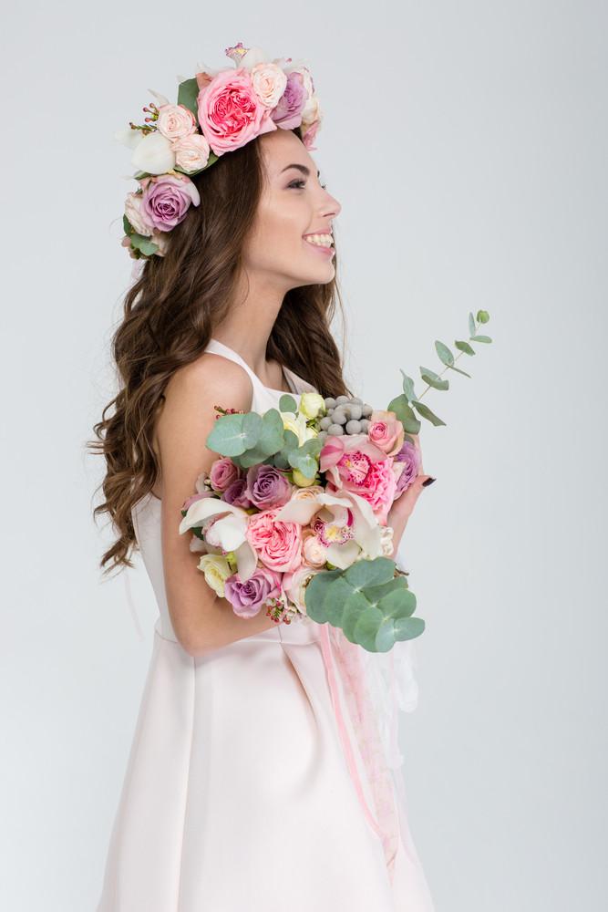 in flower wreath