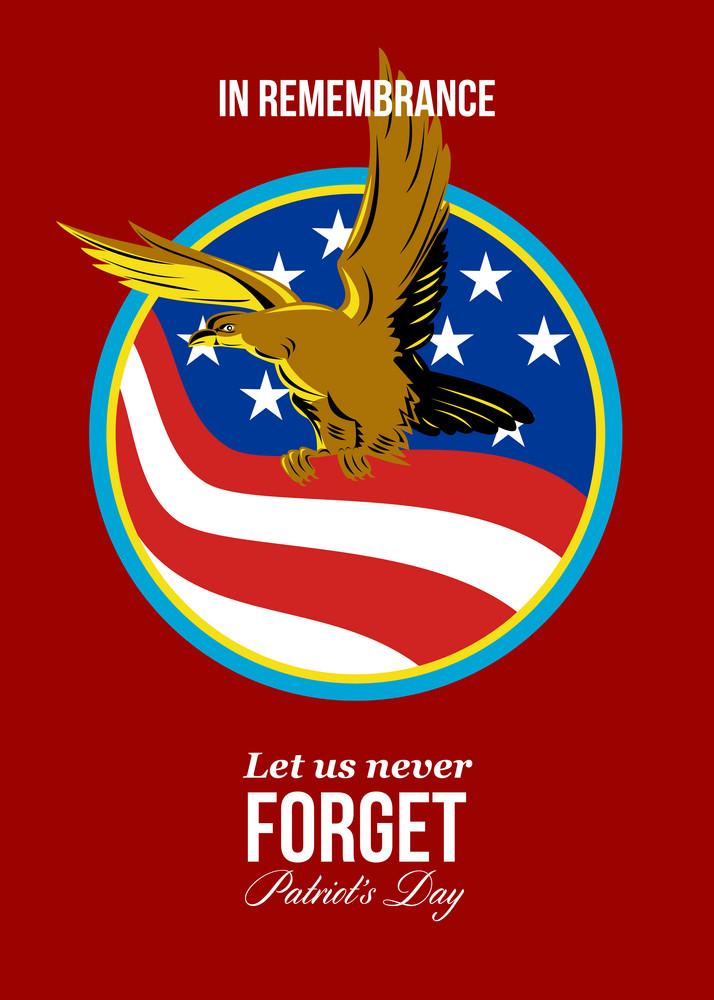 In Remembrance Patriots Day Retro Poster