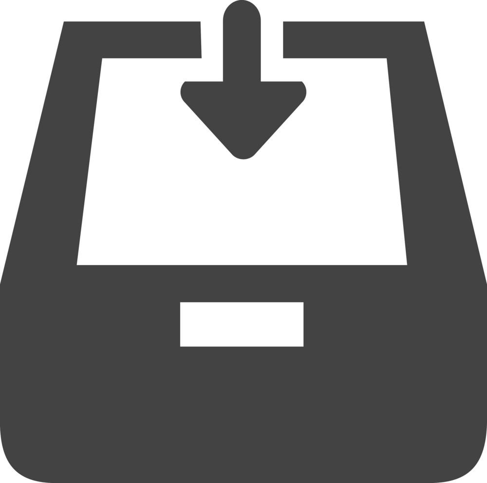 Inbox Down Glyph Icon