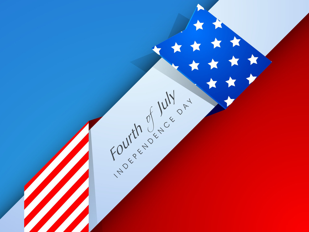 Independence Day Background With Text Fourth Of July