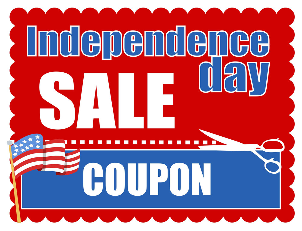 Independence Day Coupon Vector 4th Of July Vector
