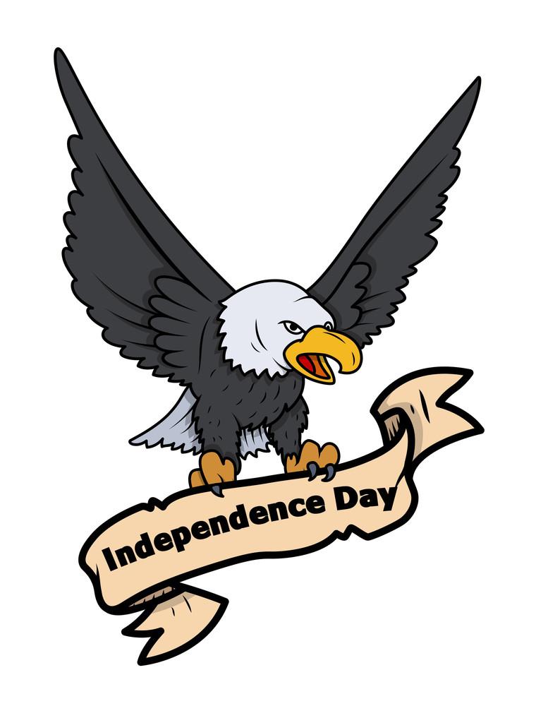 Independence Day Eagle Banner