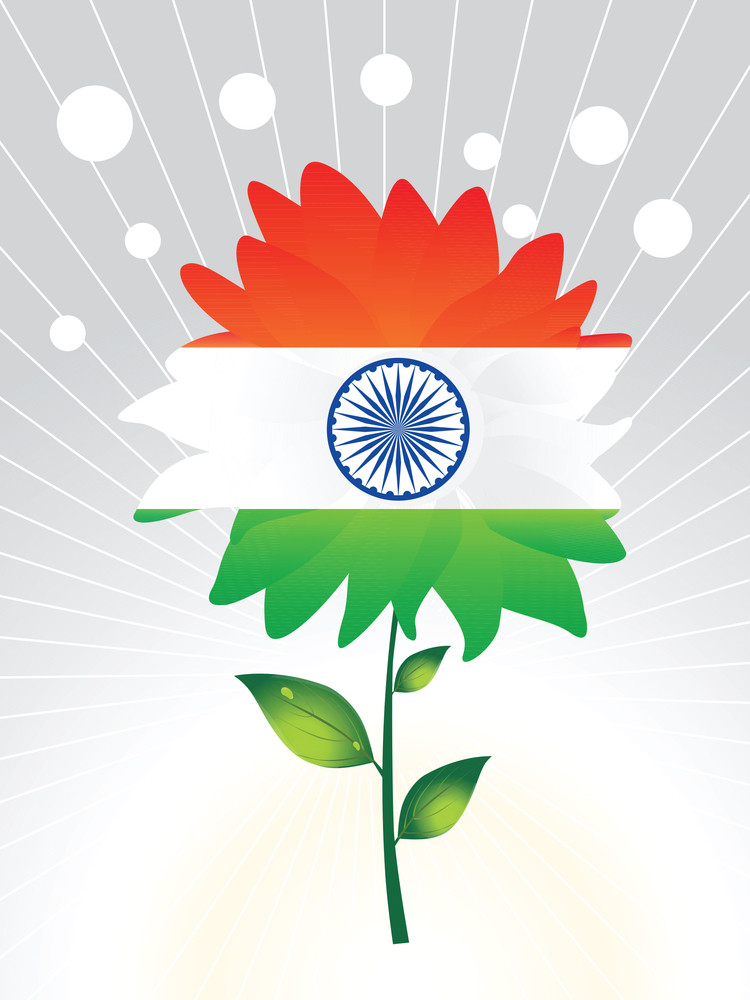 Independence Day Flower Vector Illustration