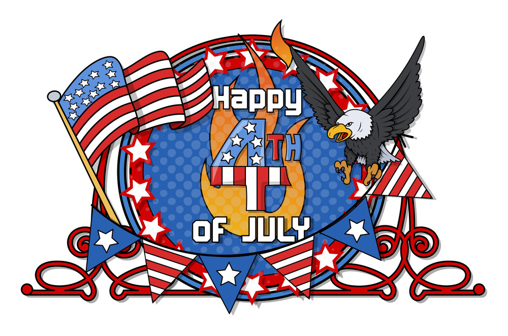 Independence Day Happy 4th Of July Vector