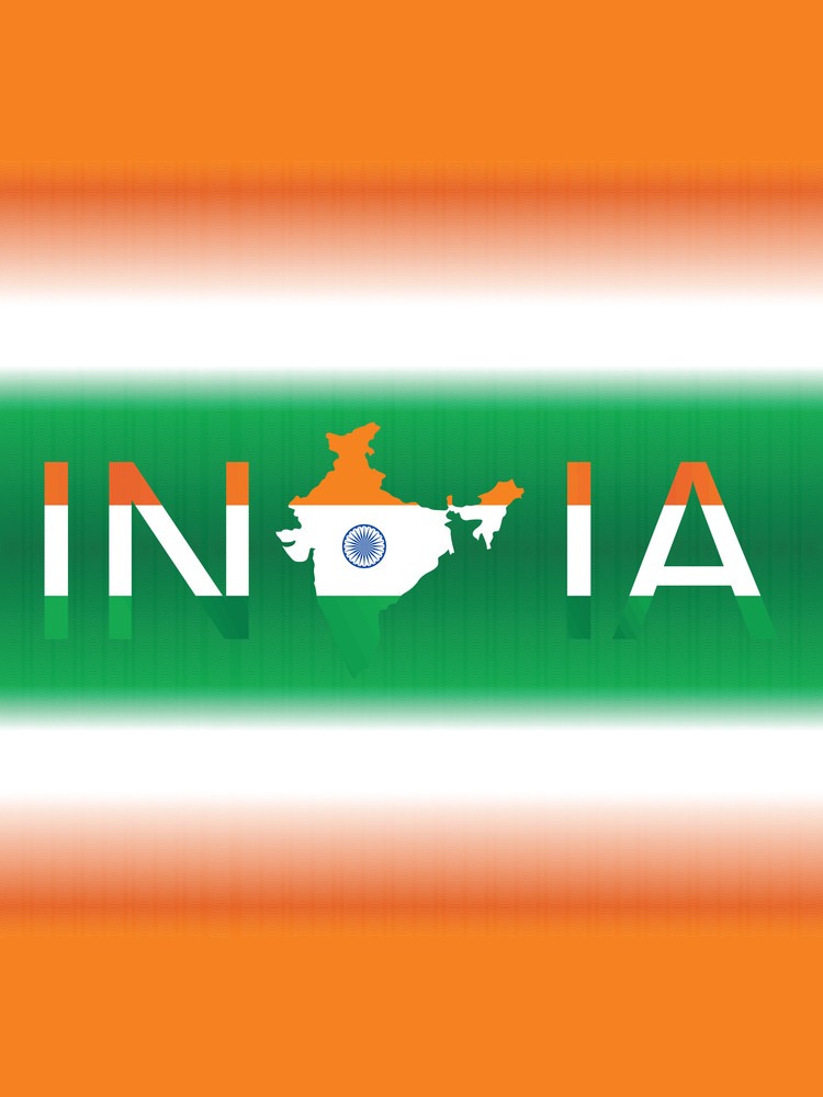 India In Three Color From Flag