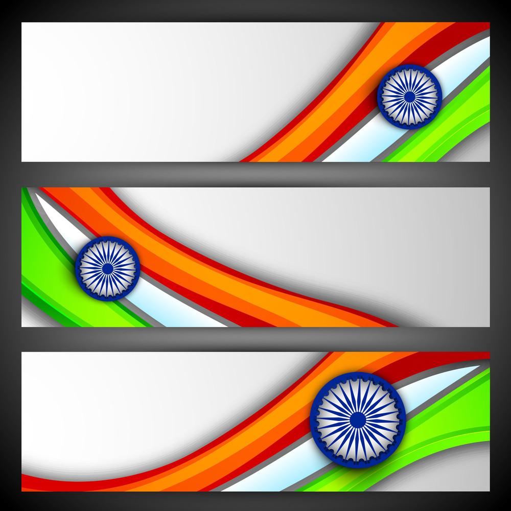 India Nation Flag Waving Design