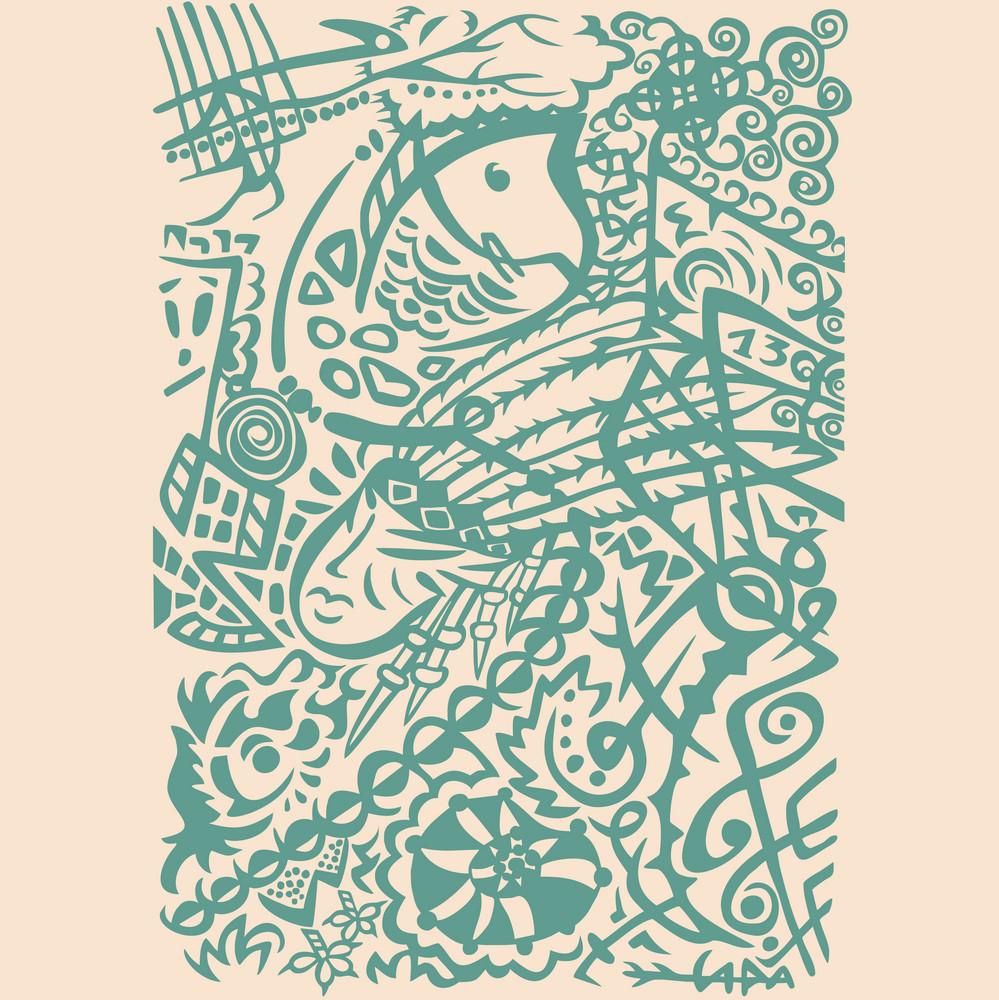 Indian Art Stylization Symbolic Design. Abstract Background