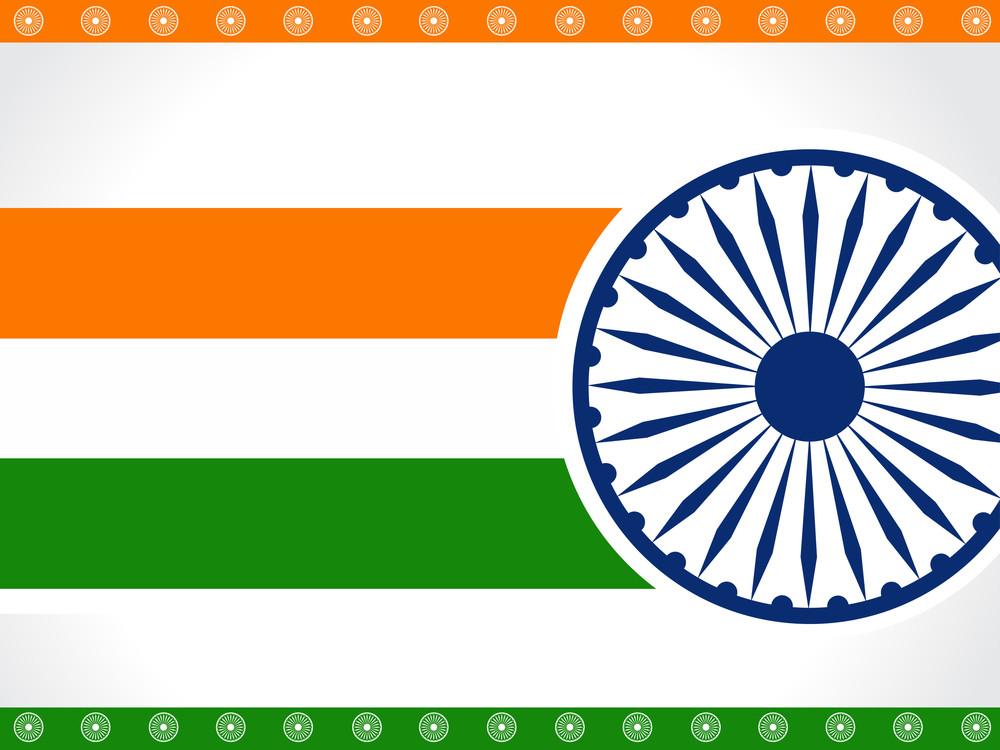 Indian Flag Background.