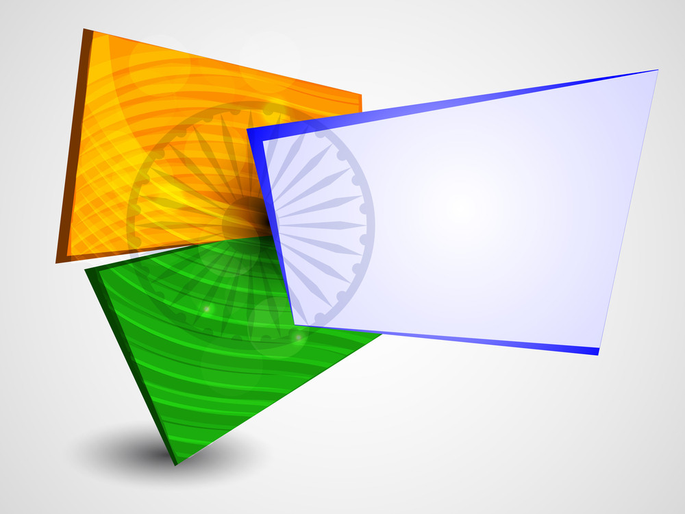 Indian Flag Background.
