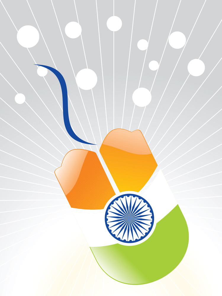 Indian Flag Effect On The Mouse