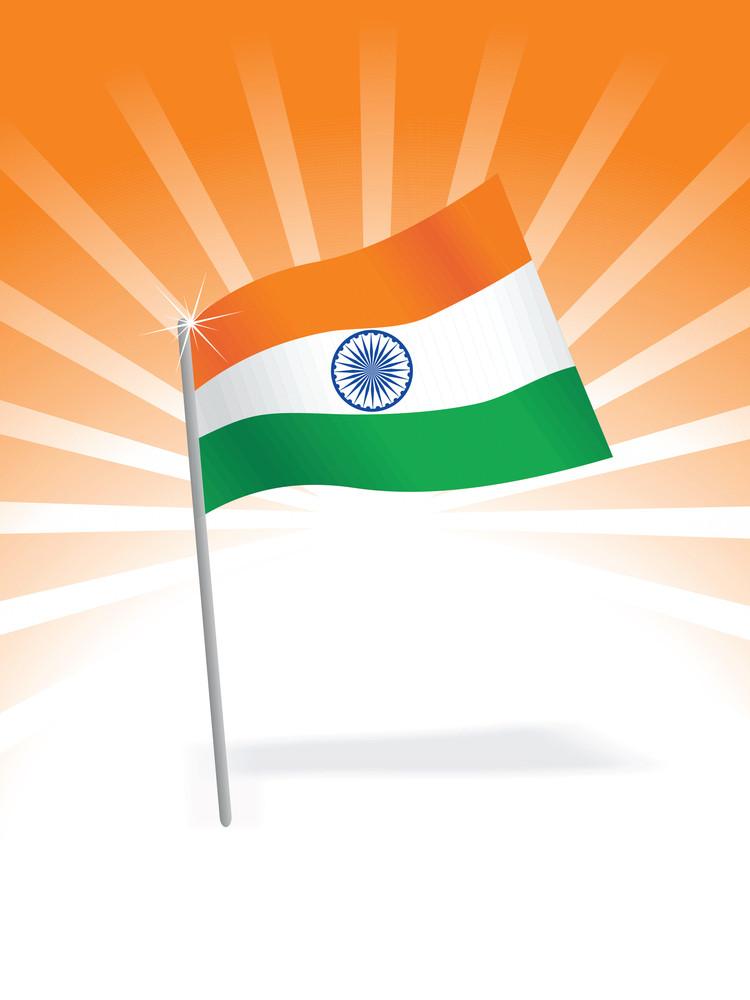 Indian Flag Isolated On Nice Background