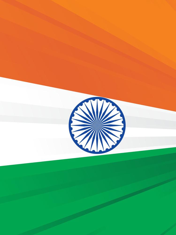 Indian Flag Vector Halfton