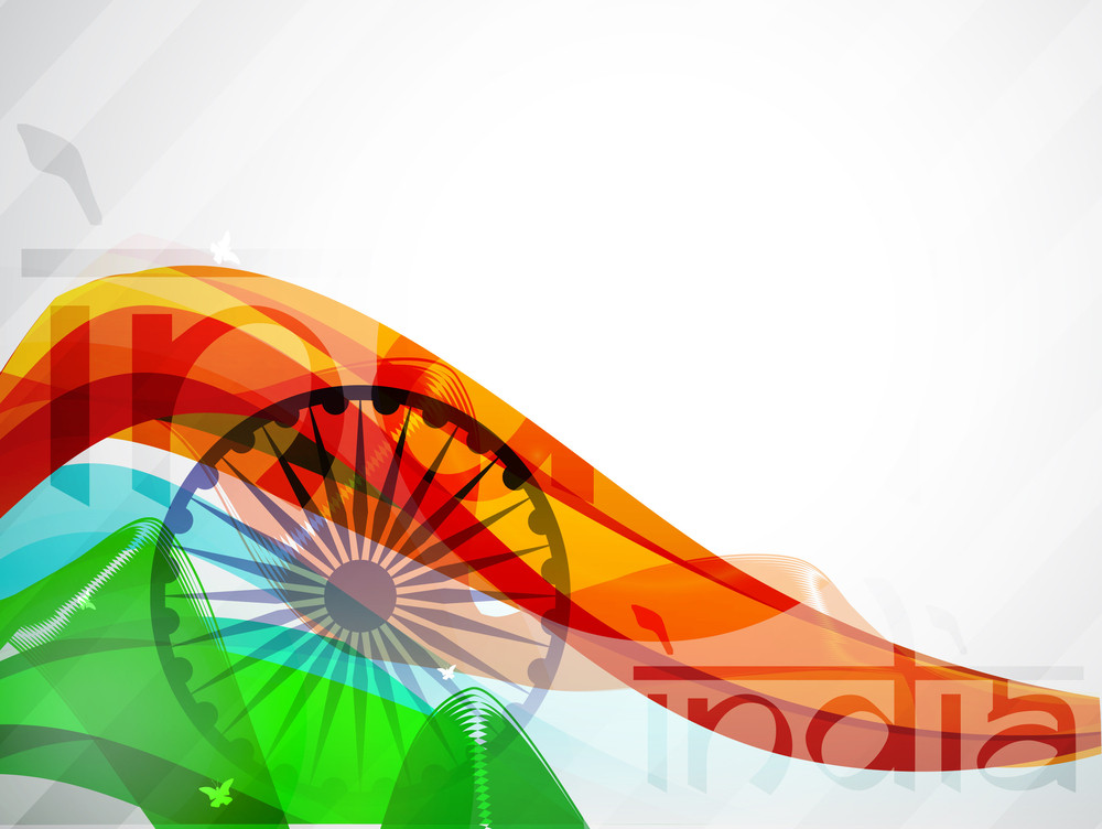 Indian Flag Wave Background.