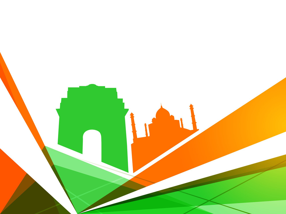Indian Independence Day Colorful Background