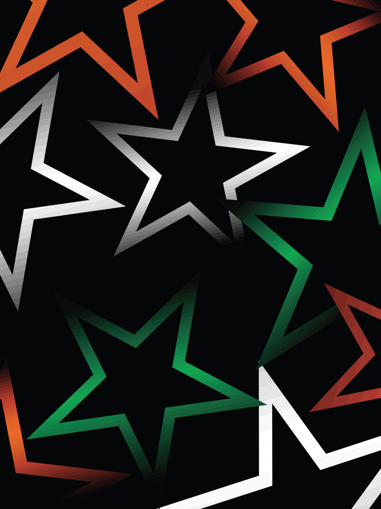 Indian Independence Day Stars Banner