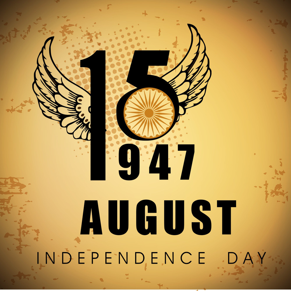 Indian Independence Day Vintage Background