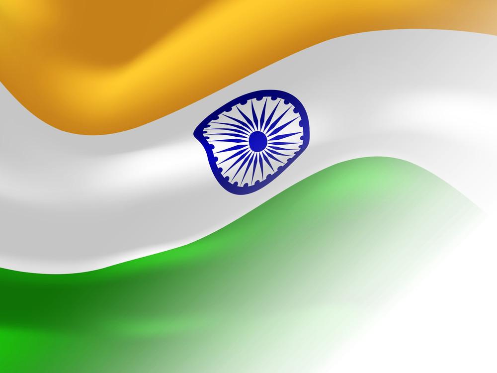 Indian National Flag Waving
