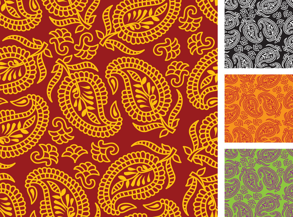 Indian Seamless. Vector Texture.