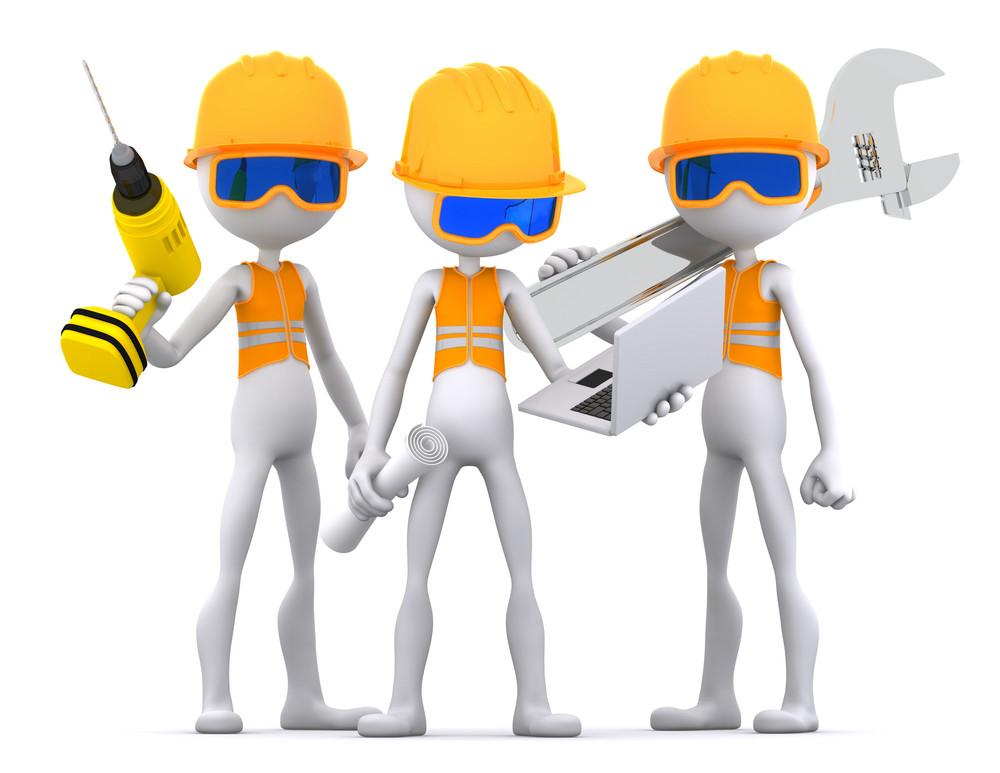 Industrial Contractors Workers Team