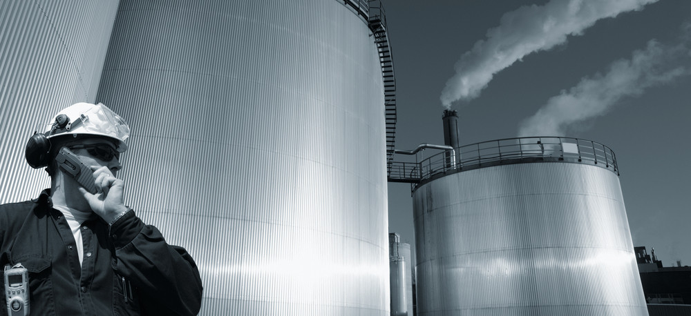 industrial engineer and fuel storage tanks