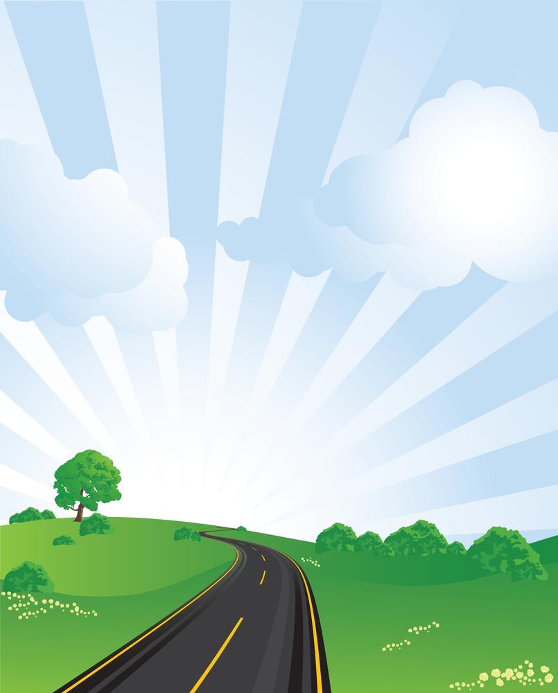 Infinity Road. Vector Illustration