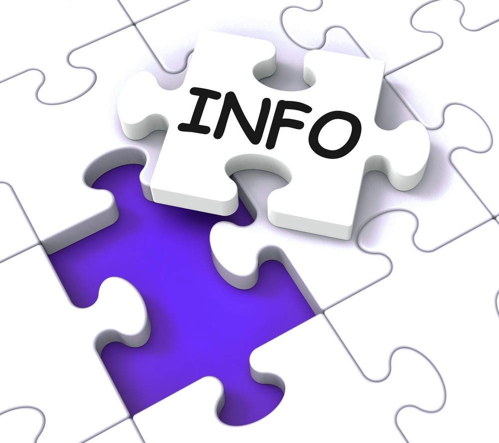 Info Puzzle Shows Information And Knowledge