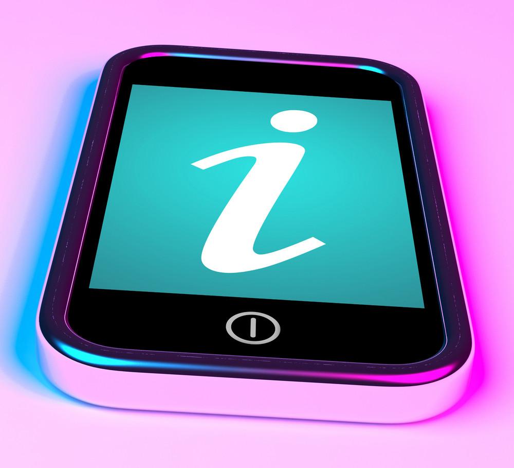 Info Symbol On Mobile As Symbol For Information