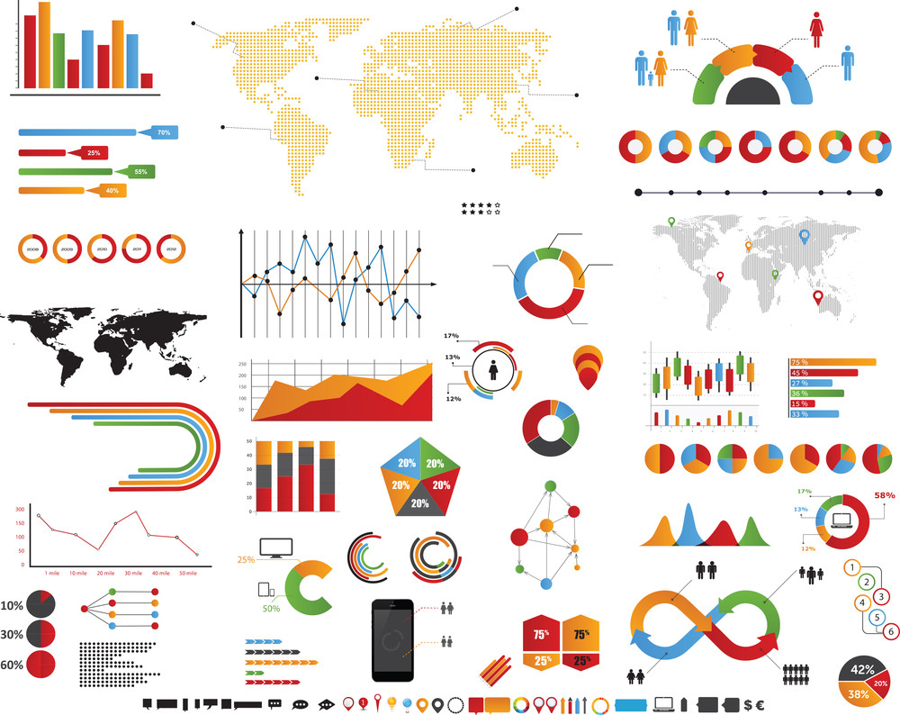 Infographic Graphs And Charts Set
