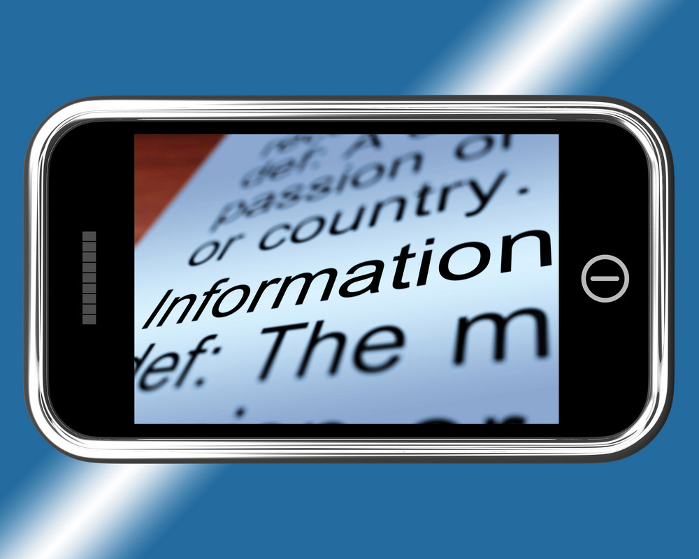 Information Definition On Mobile Shows Mobile Internet