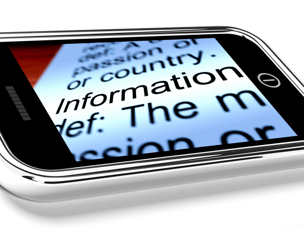 Information On Mobile Phone As Symbol For Online Knowledge