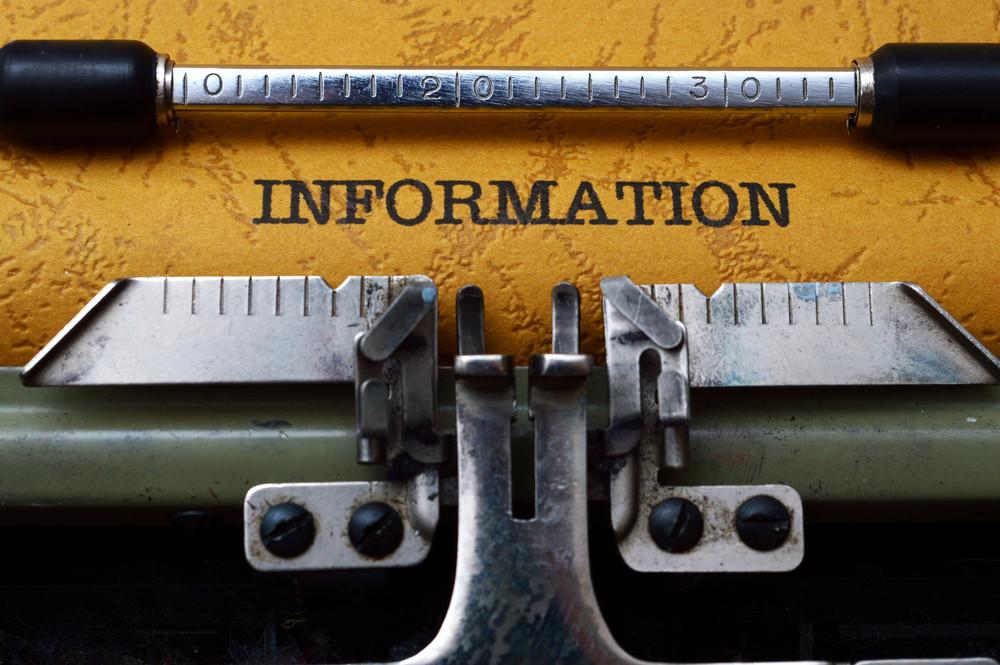 Information Text On Typewriter