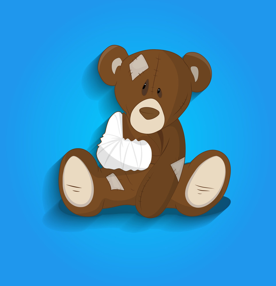 Injured Teddy Bear Cartoon