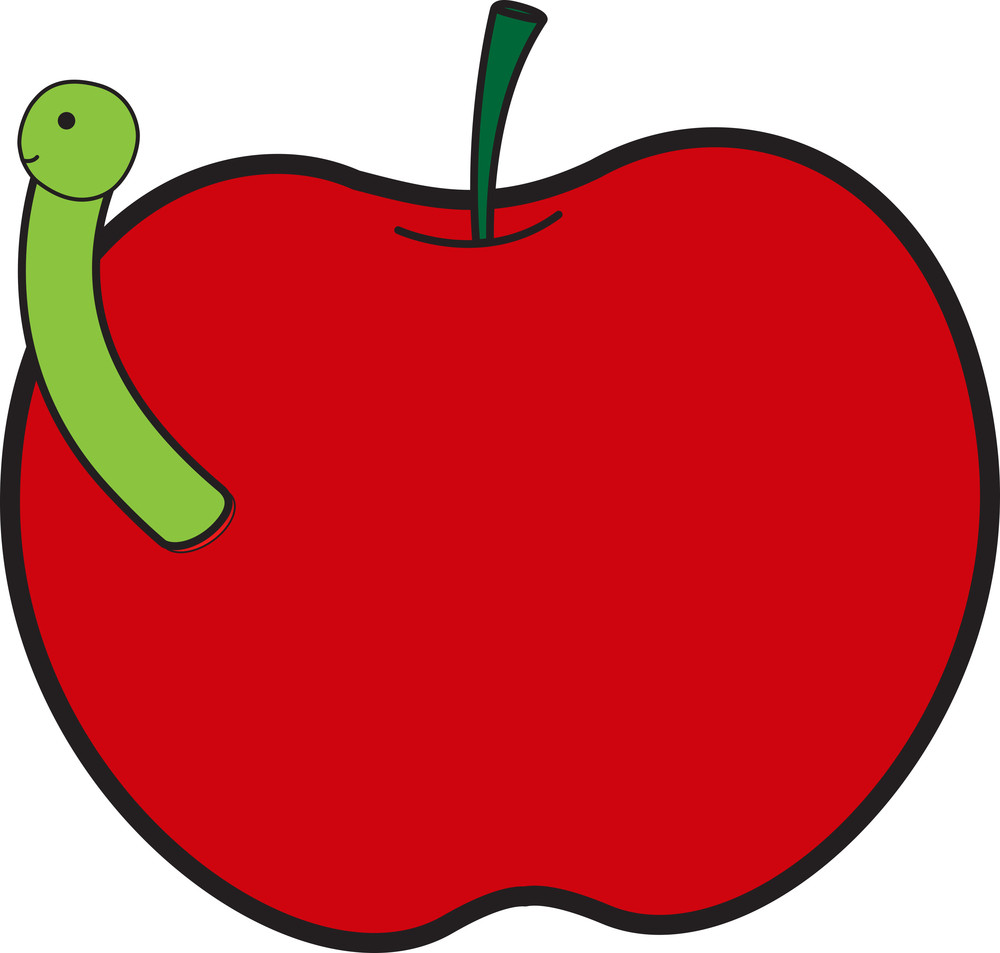Insect With Apple Vector