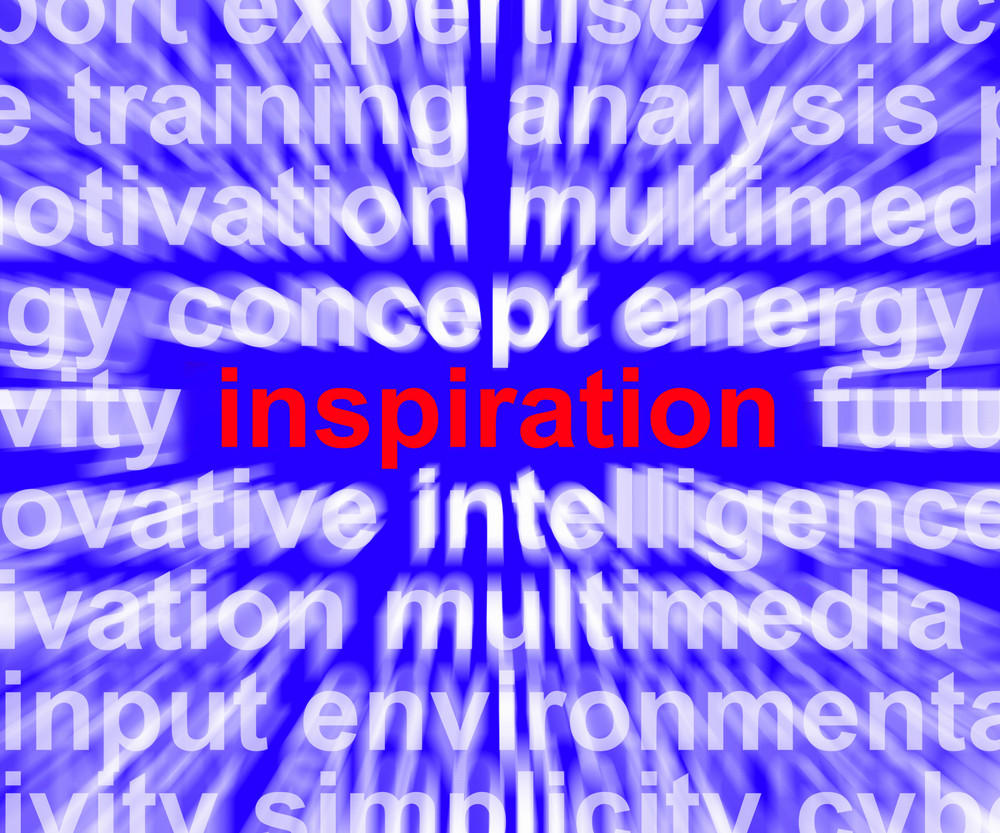 Inspiration Word Zooming Showing Positive Thinking And Encouragement