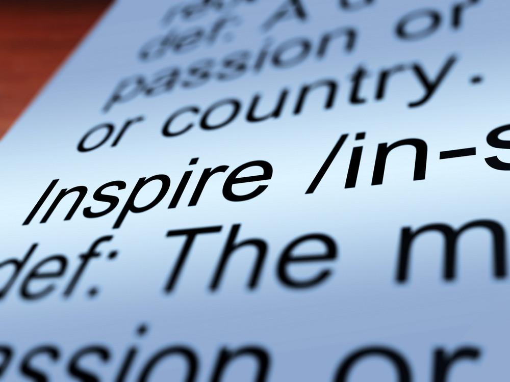Inspire Definition Closeup Showing Encouragement