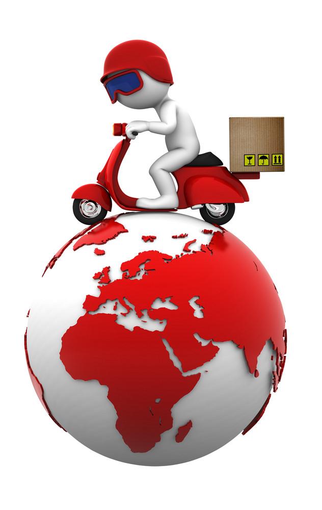 International Freight. Isolated